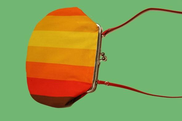 handväska randig retro