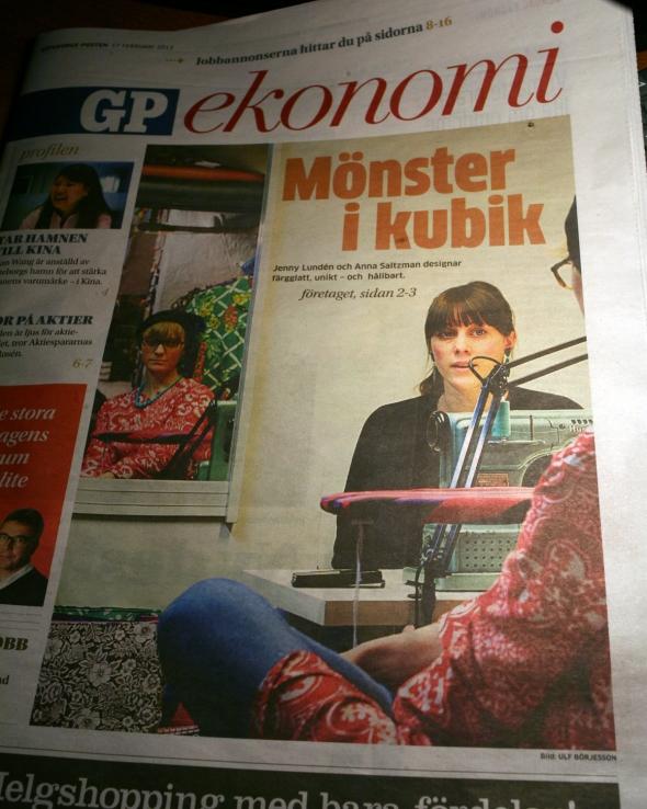 Butik Kubik i tidningen