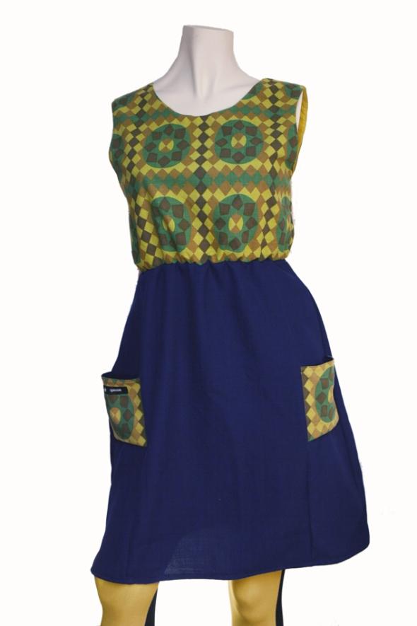 grönblå klänning 50tal