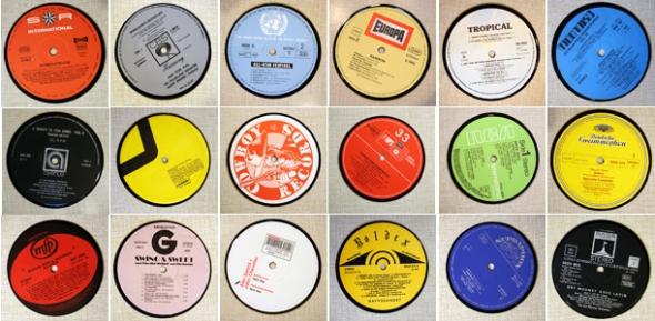 underlägg glas coasters vinyl LP återvunnet