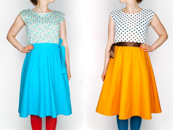 turkos turquoise dress klänning retr