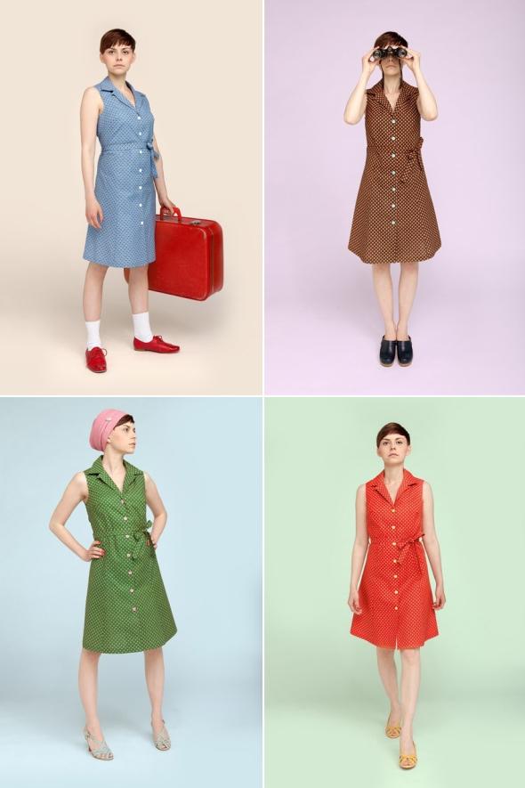 Berit klänningar från Birgit och benny retro made in sweden
