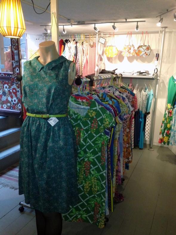 klänning från plezuro i grönt 50s