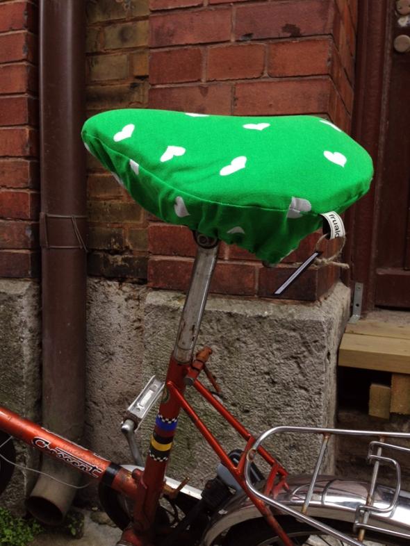 överdrag till cykel sadel retro 70-tal