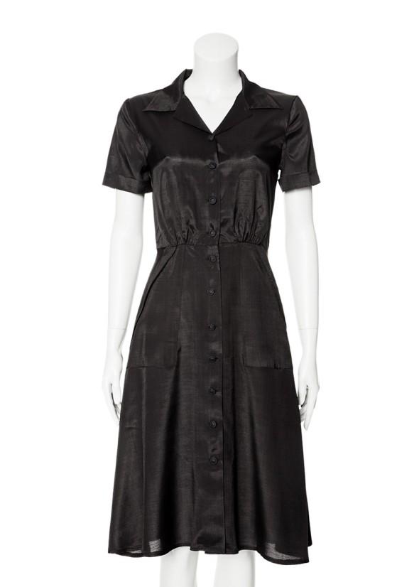 dagny svarta änkan viscose klänning