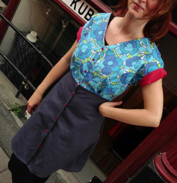 haparanda från spooon retro turkos klänning