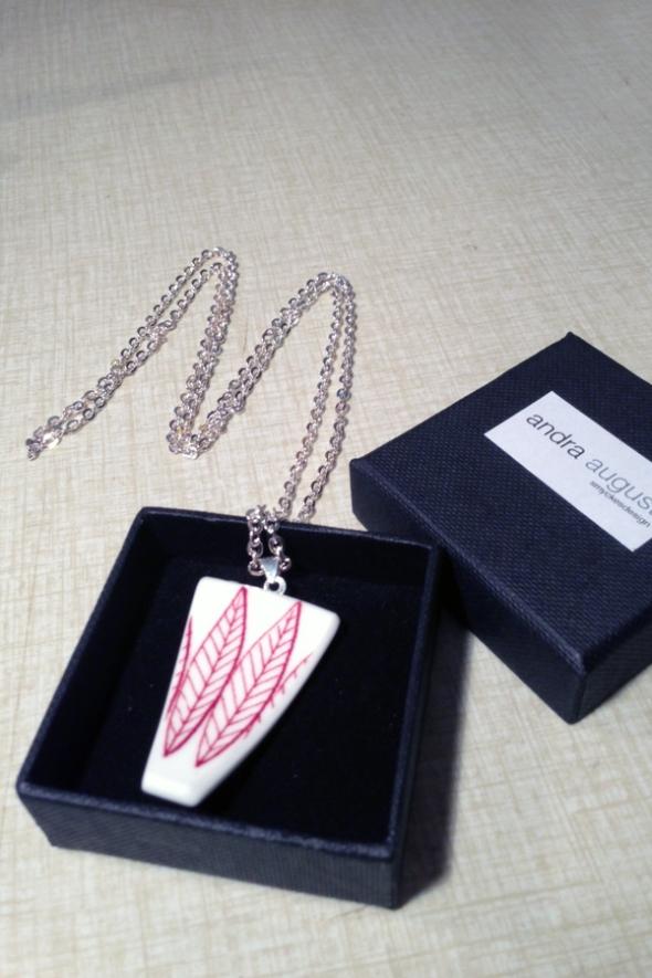salix porslinshalsband smycke porslin