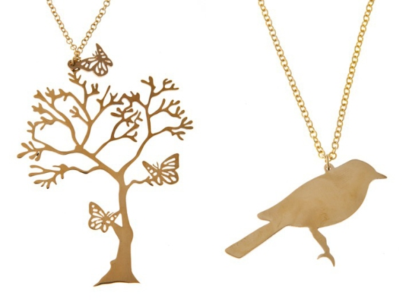 träd med fjärilar halsband