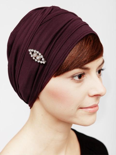 burgundy turban