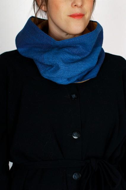 tubhalsduk blå