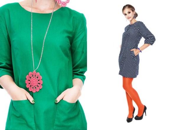 grön klänning i snygg modell