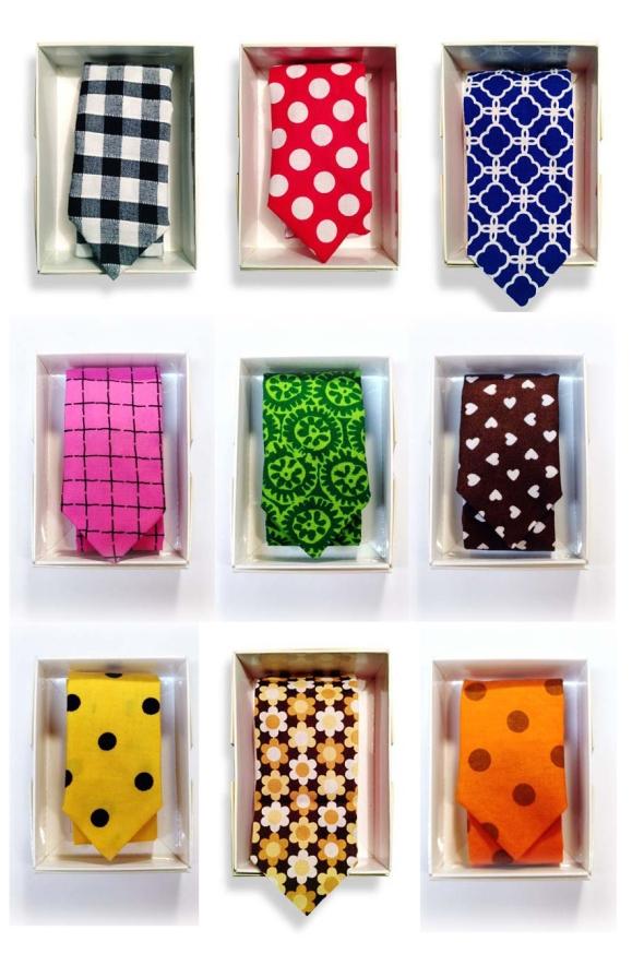 slipsar i olika färger perfekt julklapp återvunnen