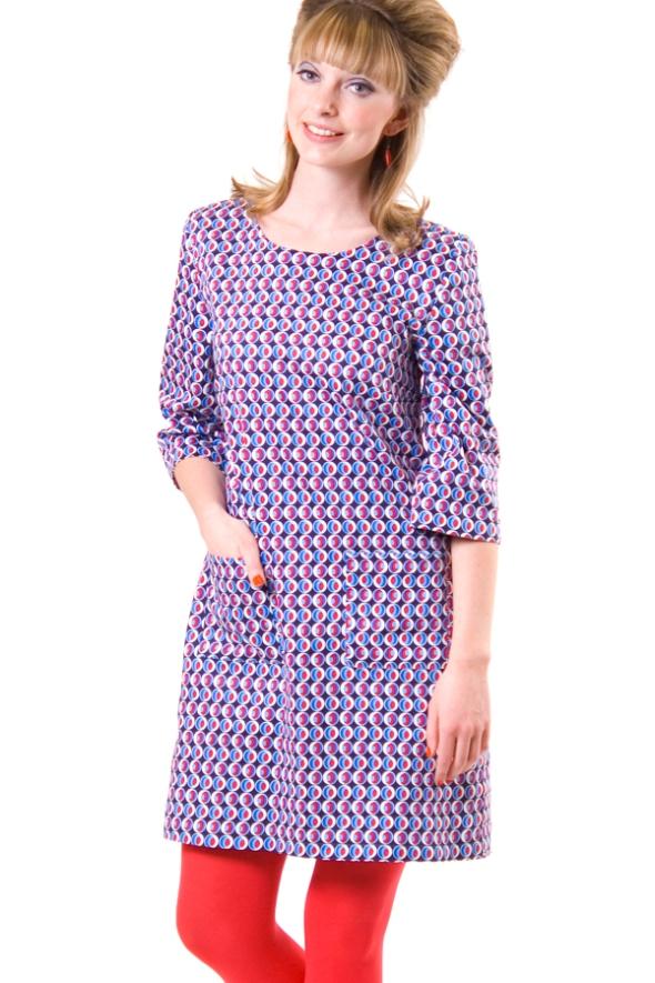 cissi och selma blå röd klänning