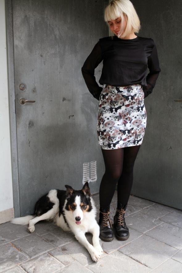 djurungar valpar kjol