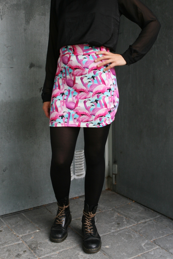 flamingo kjol skirt
